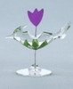 Set of 6 Glass Birds With Flower Collectible Figurines #59071 - 6387021