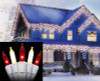 Set of 100 Red and Frosted Clear Mini Icicle Christmas Lights - White Wire - 31756412