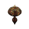 "3ct Mocha Brown Glitter Sequin Beaded Shatterproof Christmas Finial Ornaments 5"" - 30889586"