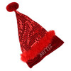 """17"""" Sexy Red Sequin """"Hottie"""" Santa Hat - Size Small - 5575654"""
