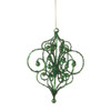 """Sugared Fruit Green Bead and Glitter Filigree Christmas Ornament 7.25"""" - 11239059"""