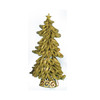 "20"" Lighted Looped Kiwi Green Glitter Christmas Tree Decoration - 17103437"