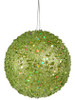 "Fancy Green Apple Holographic Glitter Drenched Christmas Ball Ornament 4.75"" - 11223904"