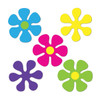 """Club Pack of 240 Bright Neon Mini Retro Flower Cutout Party Decorations 4.5"""" - 31558819"""