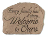 "10.5"" Slate-Look Inspirational Family Story Decorative Outdoor Patio Garden Stone - 31517203"
