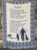 """A Son's Reflection Inspirational Poem Blue Two-Layer Jacquard Throw Blanket 46"""" X 60"""" - 31071845"""
