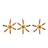 Set of 3 Tuscan Beaded Snowflake Christmas Ornaments - 6567387