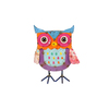 "10"" Vibrant Multi-Colored Distressed Finish Owl Outdoor Garden Figure - 31555924"