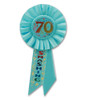 """Pack of 6 Blue """"70 and Smashing"""" Birthday Party Celebration Rosette Ribbons 6.5"""" - 31559442"""
