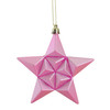 "12ct Matte Bubblegum Pink Glittered Star Shatterproof Christmas Ornaments 5"" - 30868160"