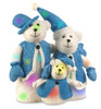 """15"""" Battery Operated Lighted LED Color Changing Bear Family Christmas Decoration - 11578545"""