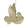 "Nature's Beauty Gold Glittery Dove w/ Head Turned Christmas Ornament 4"" - 9729547"