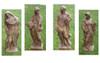 "Set of 4 Cast Stone Four Seasons Outdoor Garden Statues 52"" - 15733727"