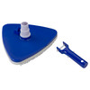 """10.5"""" Triangular Weighted Swimming Pool Vacuum Head with Swivel Cuff and Bumper - 32233229"""