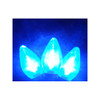 Set of 25 Transparent Blue LED Retro Style C7 Christmas Lights - Green Wire - 23112943