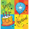 """Pack of 6 Cake Celebration Disposable Plastic Party Banquet Table Covers 108"""" - 31379440"""