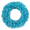 "36"" Pre-Lit Sparkling Sky Blue Artificial Christmas Wreath - Teal Lights - 11240412"