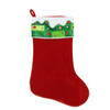 "24"" Large Red and Green Sequined Velveteen Christmas Stocking - 31450816"