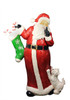 """48.5"""" Commercial Size Santa Claus with Puppy Dog Christmas Display Decoration - 31304249"""