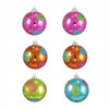 "6ct Colorful Swirl Glitter Shatterproof Christmas Ball Ornaments 3.25"" (80mm) - 31093631"