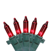 4' x 6' Red Mini Net Style Christmas Lights - Green Wire - 6464384