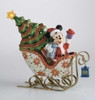 """9"""" Cloisonne Mickey In Lighted Sleigh Porcelain Christmas Decoration - 6684909"""