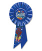 "Pack of 6 Blue ""The Greatest"" Birthday Party Celebration Rosette Ribbons 6.5"" - 31559339"