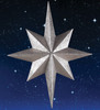 """25"""" Seasons of Elegance Glittered Silver Commercial Size Star Christmas Ornament - 31460074"""