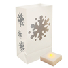 6 Weather Resistant Snowflake Christmas Luminaria Bags with LED Flicker Lights - 31354735