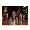 "7 Piece Icy Crystal Religious Christmas Nativity Block Figurines 8.75"" - 31002408"