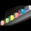Set of 10 LED Color-Changing Jumbo C9 Multi-Color Christmas Lights - Green Wire - 30890724