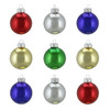 "9ct Shiny Multi-Color Glass Ball Christmas Ornaments 2"" (50mm) - 31394315"