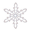 """36"""" Lighted White Hanging Snowflake Christmas Decoration - Clear Lights - 31758640"""