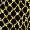 """Gold Fuzzy Stretchable Mesh Wired Craft Ribbon 2.5-6"""" x 20 Yards - 31390456"""