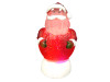 """8"""" Battery Operated LED Lighted Red Santa Claus Frosted Christmas Glitterdome - 23446302"""