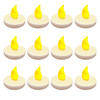 Pack of 12 Battery Operated Flickering LED Amber Waterproof Floating Tea Lights - 31067496