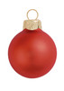 "28ct Matte Fire Orange Glass Ball Christmas Ornaments 2"" (50mm) - 30939571"
