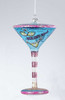 "Happy Hour Mouth Blown Glass ""Bikini-Tini"" Martini Cocktail Christmas Ornament - 11142171"