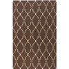 2' x 3' Forest Life Ivory and Brown Hand Woven Wool Area Throw Rug - 28452237