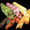 "Light Green and Orange Checkered Pattern Deco Mesh Ribbon 21"" x 40 Yards - 31391034"