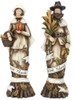 "Set of 2 Harvest ""Give Thanks"" Pilgrim Couple Thanksgiving Figures 10"" - 30657558"