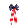 """14"""" x 28"""" Large Patriotic Stars and Stripes Indoor Velveteen 6 Loop Wired Christmas Bow - 31366100"""