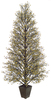 "64"" Potted Gold & Black Glittered Berry Christmas Tree #XBZ729-GO - 6395772"