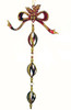 """8"""" Red & Gold Spiral Bow Dangling Christmas Ornament - 5672383"""