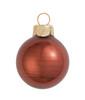 "40ct Pearl Chocolate Brown Glass Ball Christmas Ornaments 1.25"" (30mm) - 30939201"