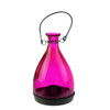 "6.25"" Transparent Pink Glass Bottle Tea Light Candle Lantern Decoration - 31799231"