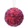"""Lavish Lilac Fully Sequined & Beaded Christmas Ball Ornament 3.5"""" (90mm) - 11210714"""
