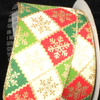 "Snowflake Lattice Ivory, Red and Green Wired Craft Ribbon 2.5"" x 40 Yards - 30931436"
