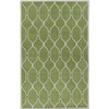 8' X 11' Sea Coral Palm Green and Ivory Wool Area Throw Rug - 28461548