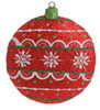 """4"""" Christmas Brites Vivid Red Glittered Disk Holiday Ornament - 16470568"""